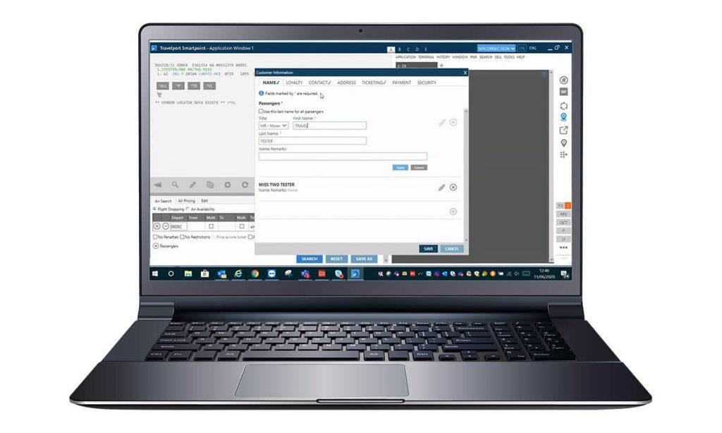 Smartpoint screen on laptop
